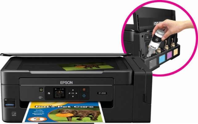 Epson - Expression EcoTank ET-2650 Wireless All-In-One Printer - Front Zoom