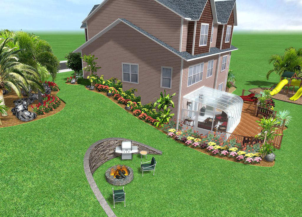 Incline Landscaping Landscape Design Software By Idea Spectrum Realtime Land Backyard Landscaping Designs Front House Landscaping Landscape Design Software