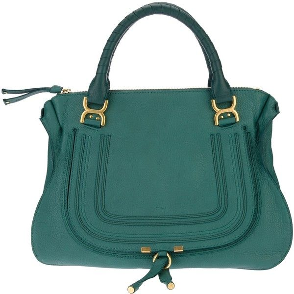 Chloe 'Marcie' green bag ($1,825) ❤ liked on Polyvore