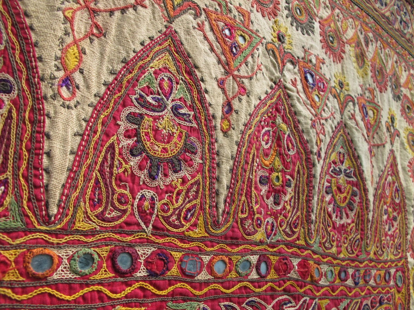 Indian hindu kutch embroidery probably from the late s to