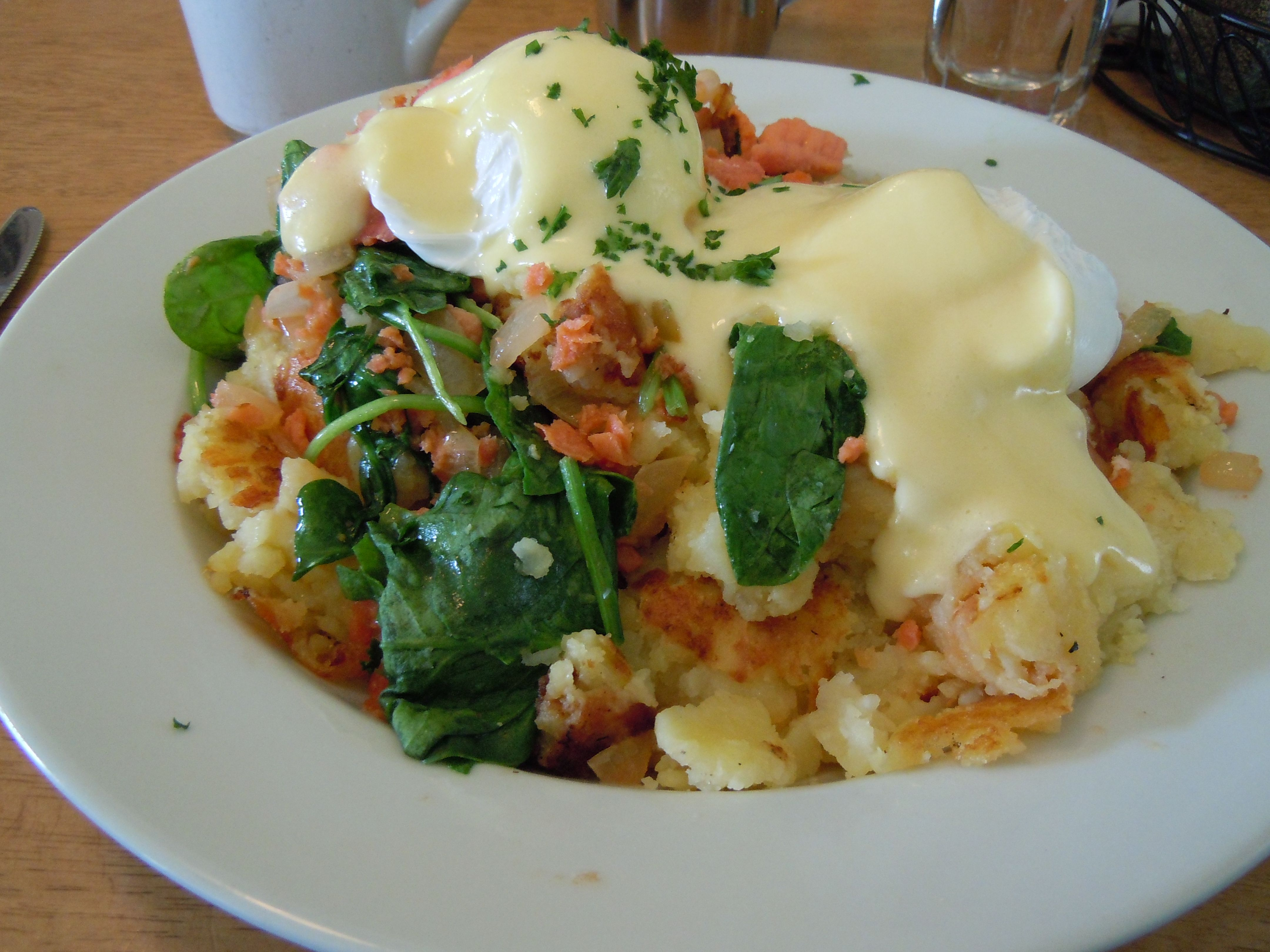 Smoked Salmon Hash from Helser's on Alberta in Portland. Post: http://wp.me/p27DQf-Ht
