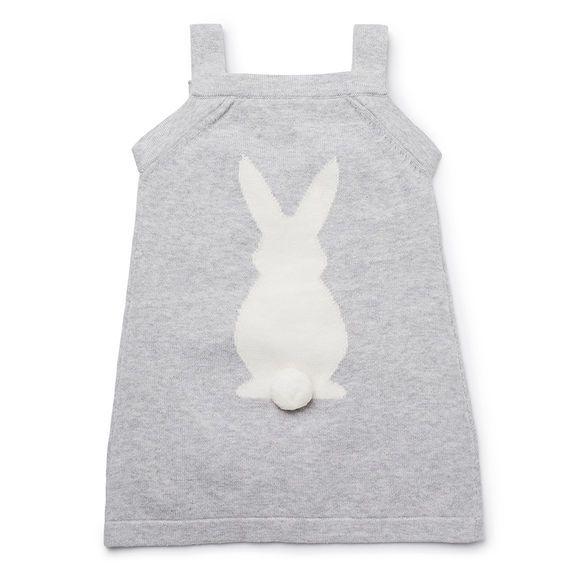 Bunny Knit Pinafore