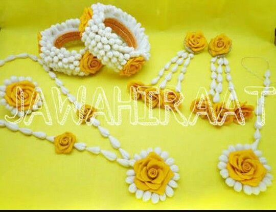 For Haldi Flower Jewellery For Mehndi