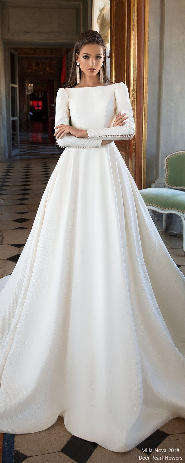 Top long sleeves wedding dresses for wedding dress