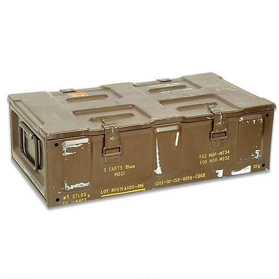 NATO Ammo or Grendade Box Metal Brown 81mm Ammo Can Used Fair Condition 7e0d3434335