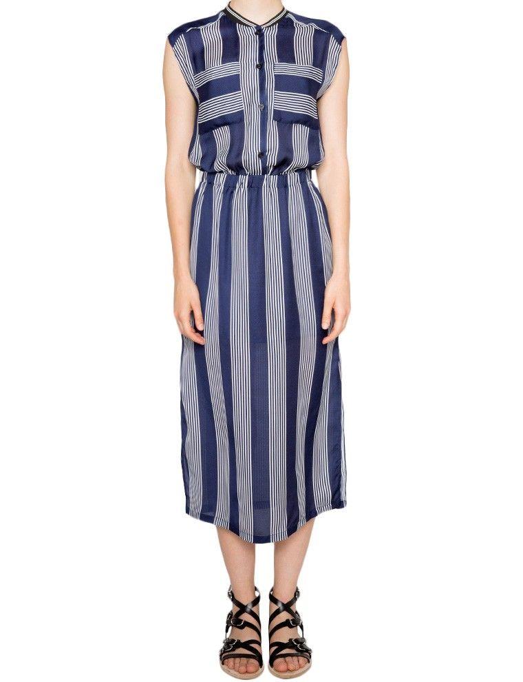 Magda Striped Midi Dress on Pixie Market