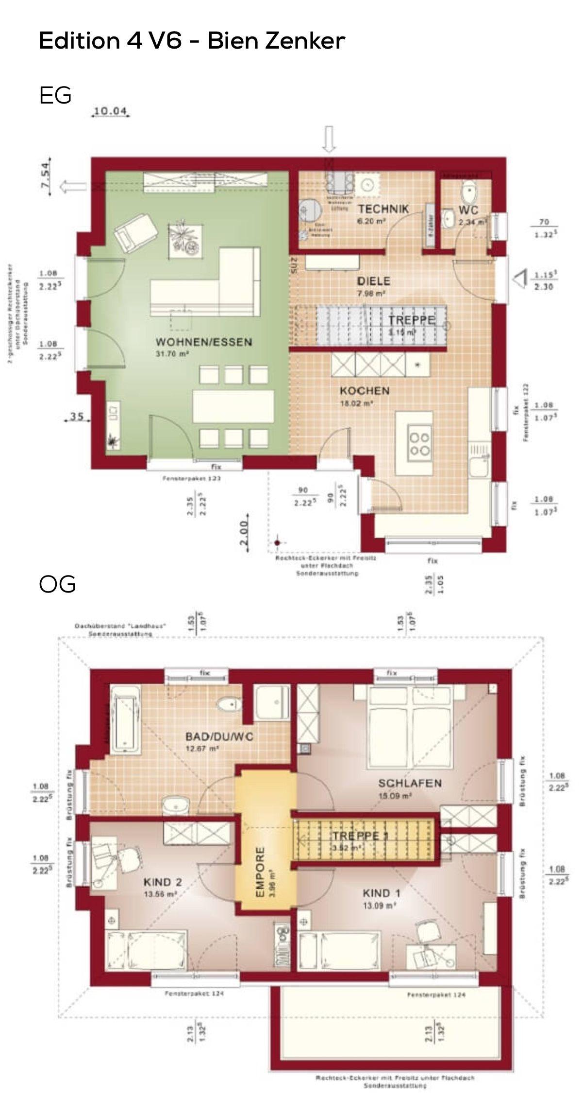 Grundriss Einfamilienhaus Stadtvilla modern mit Walmdach Architektur ...