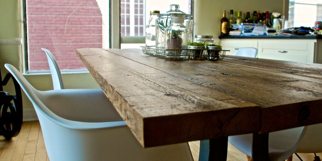 Diy Reclaimed Wood Table  Wood Table Apartment Therapy And Woods Alluring Plank Dining Room Table Design Ideas