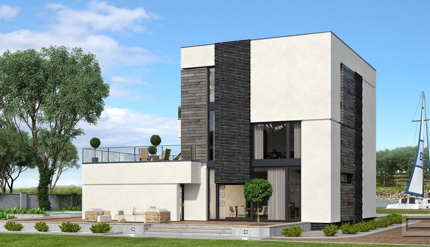Hi Tech Frame House House Styles Tech House House