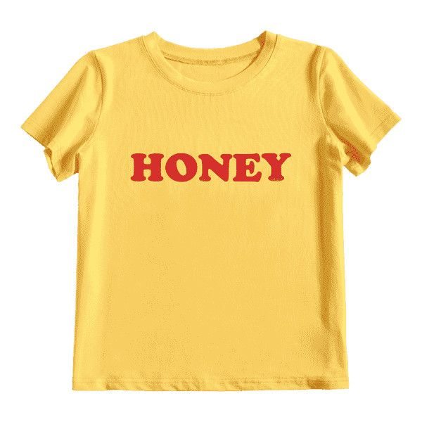 Tied Honey Printed T Shirt ($30) ❤ liked on Polyvore featuring tops, t