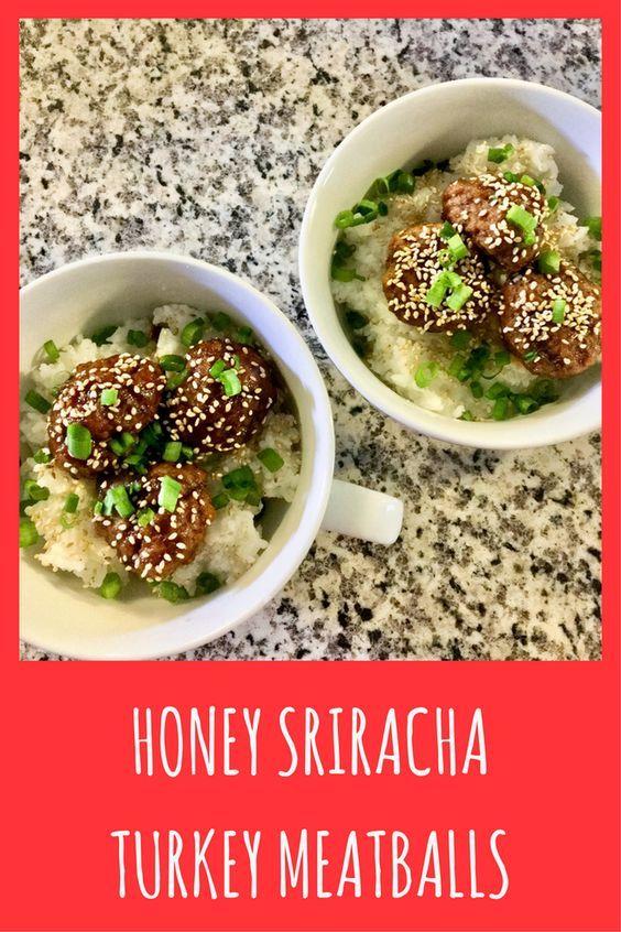 Honey Sriracha Turkey Meatballs (Dairy-Free & Egg-Free ...