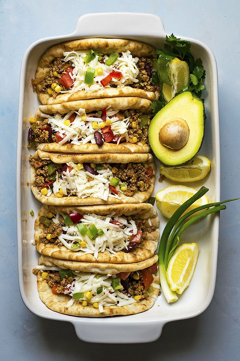 Pitacos Pita Bread Tacos With Minced Beef And Beans Recipe Pita Bread Pita Recipes Ground Beef Tacos