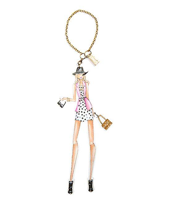 Fashionista Dot Dress Charm Bookmark