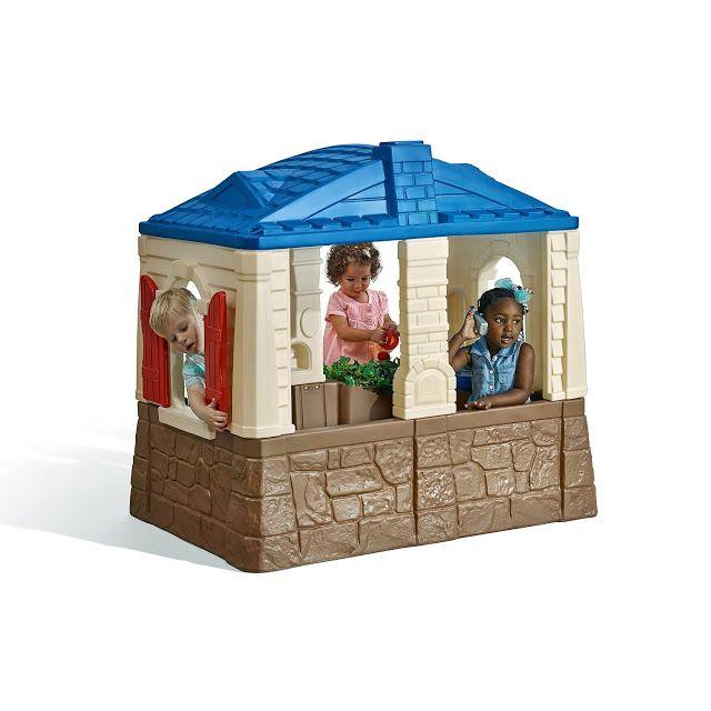 Merveilleux Toddler U0026 Little Childrenu0027s Outdoor Plastic Playhouse With Indoor/Outdoor  Kitchen ...