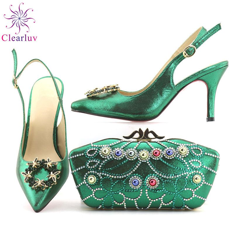 Shoes With Matching Bags Quality Italian Directly From China For Party Suppliers Lemon Green