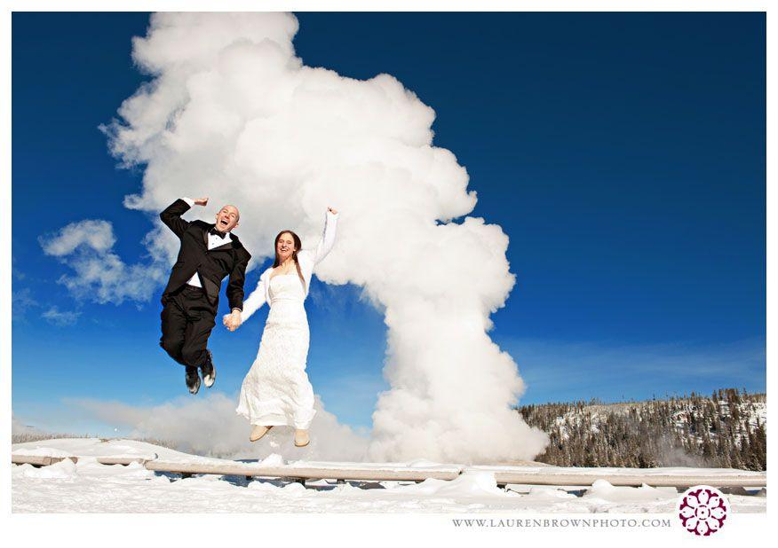 Old Faithful Wedding Weeeeehhhh National Park Wedding Yellowstone National Park Montana Wedding