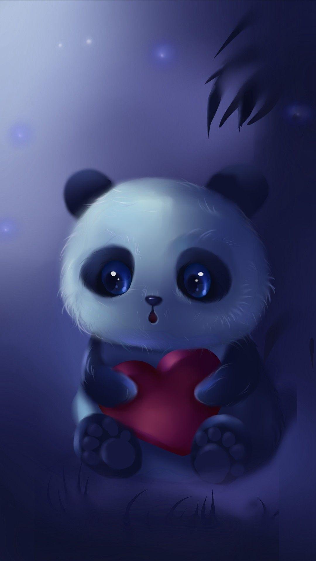 Hintergrunde Teddybar Herz Harfler Hintergrundbilder Hintergrundbilderiph In 2021 Panda Art Cute Panda Wallpaper Cute Animal Drawings