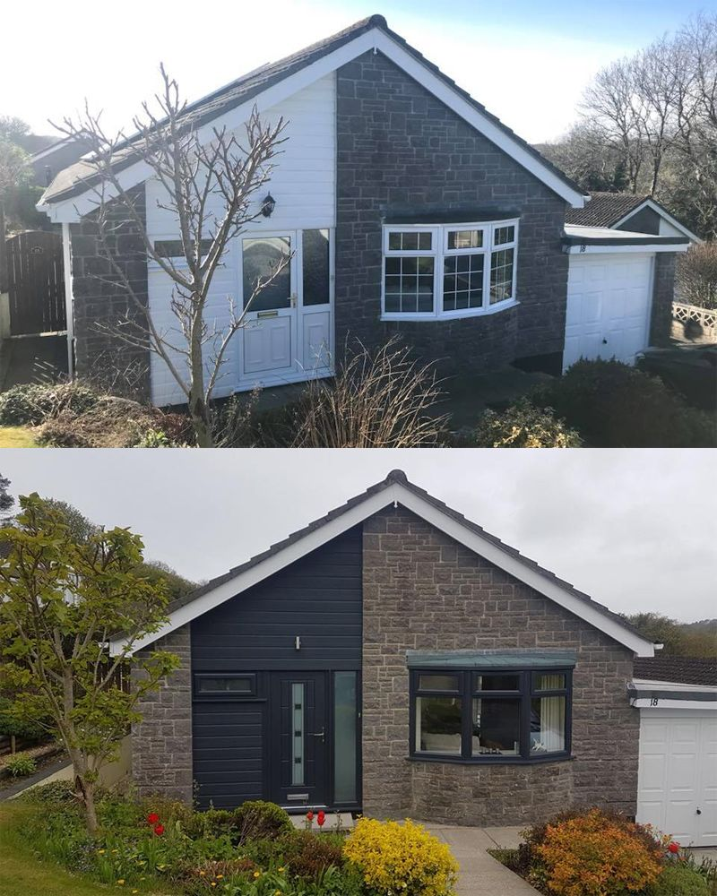 An Anthracite Grey Vermont Plus Matching Upvc Windows And Cladding Both In Anthracite Grey Too Homedecor House Exterior Exterior Cladding House Cladding