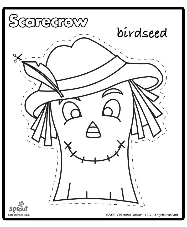 photo about Printable Scarecrow known as Printable Scarecrow Behaviors Scarecrow template