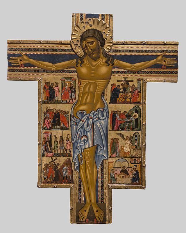 """Il Crocifisso con otto storie della Passione (Croce n. 434, dal numero di inventario del 1890) è un dipinto a tempera e oro su tavola (250x200 cm) di un maestro toscano anonimo (""""Maestro della Croce 434""""), databile al 1240-1245 circa e conservato nella Galleria degli Uffizi a Firenze."""