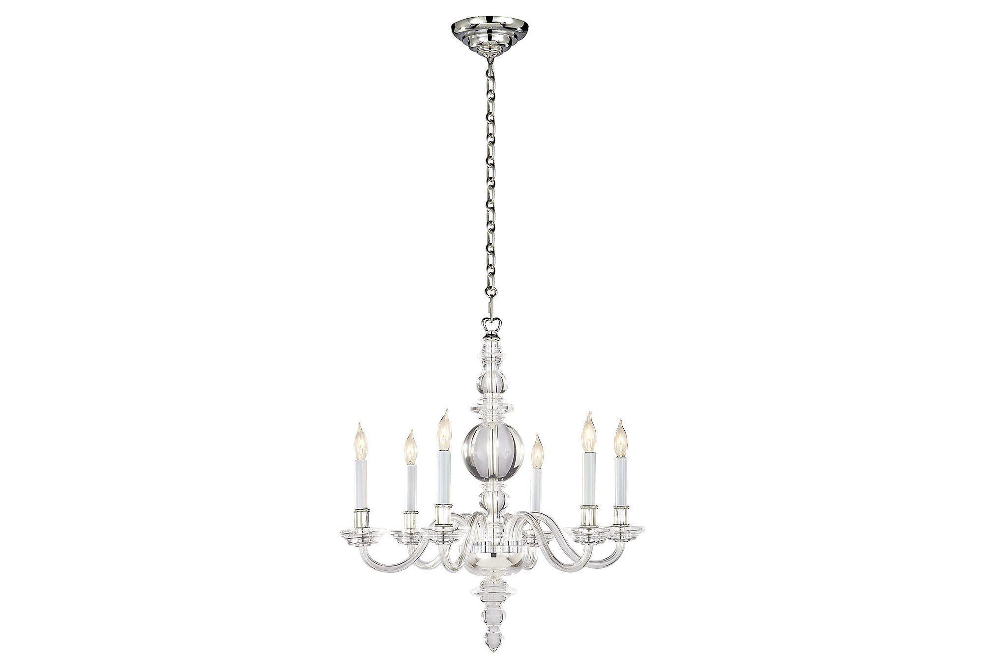George ii chandelier polished nickel one kings lane home decor george ii chandelier polished nickel one kings lane arubaitofo Images