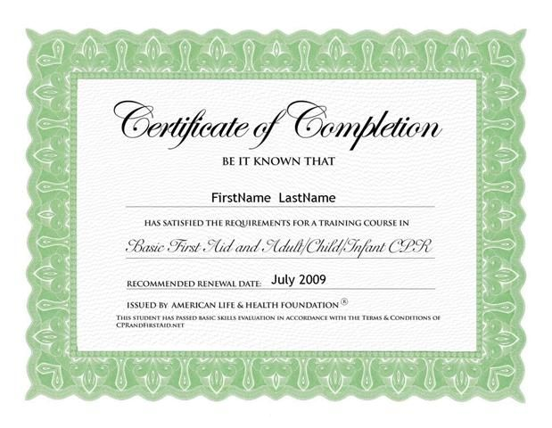 Neat First Aid Certificate Online Certificates Online Printable Certificates Certificate Templates