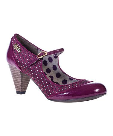 Love this Wine Polka Dot Megan Pump on #zulily! #zulilyfinds