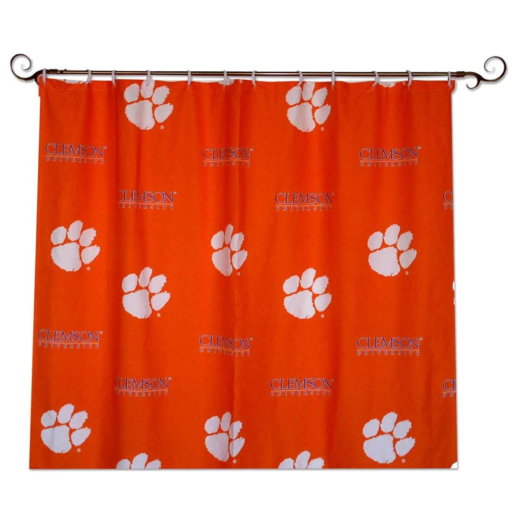 Clemson Tiger Shower Curtain Clemson Tigers With Images