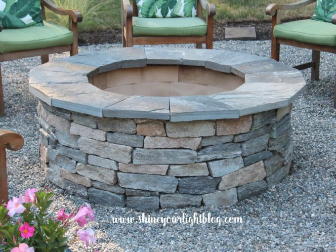 2016 Summer Staycation Stone Fire Pit Fire Pit Fire Pit With Rocks