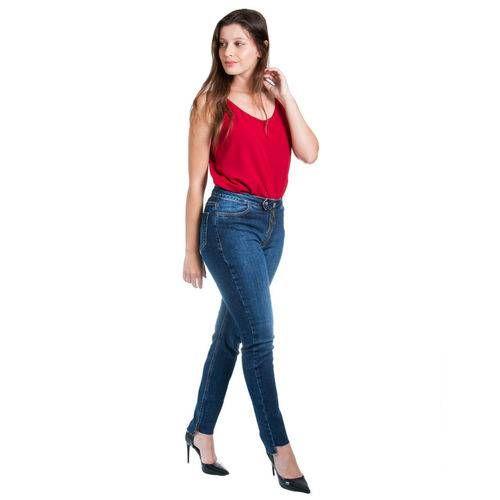 9bc97edd8fe087 Calça Jeans Maria Valentina M. Isis Elástico Diferenciado - www ...