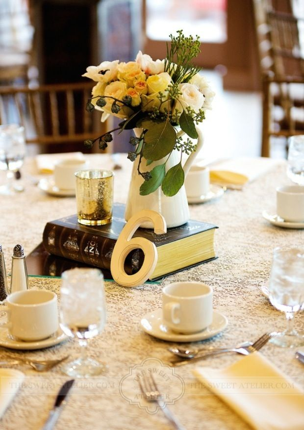The Sweet Atelier | Vintage Baby Shower | Centerpieces