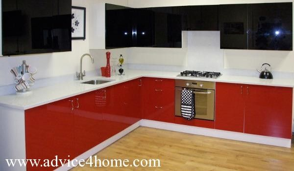 Image Result For Kitchen Black Red White