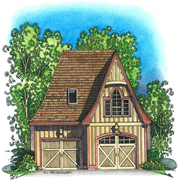 pictures of english cottages from the 1920s with attached garages – Attached Two Car Garage Plans