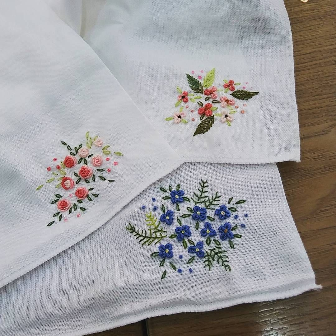 Embroidery Patterns Vintage, Handkerchief