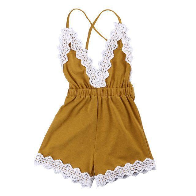 fb1e688b6a94 Cute Adorable Newborn Baby Girls Clothes Romper Sleeveless Backless ...