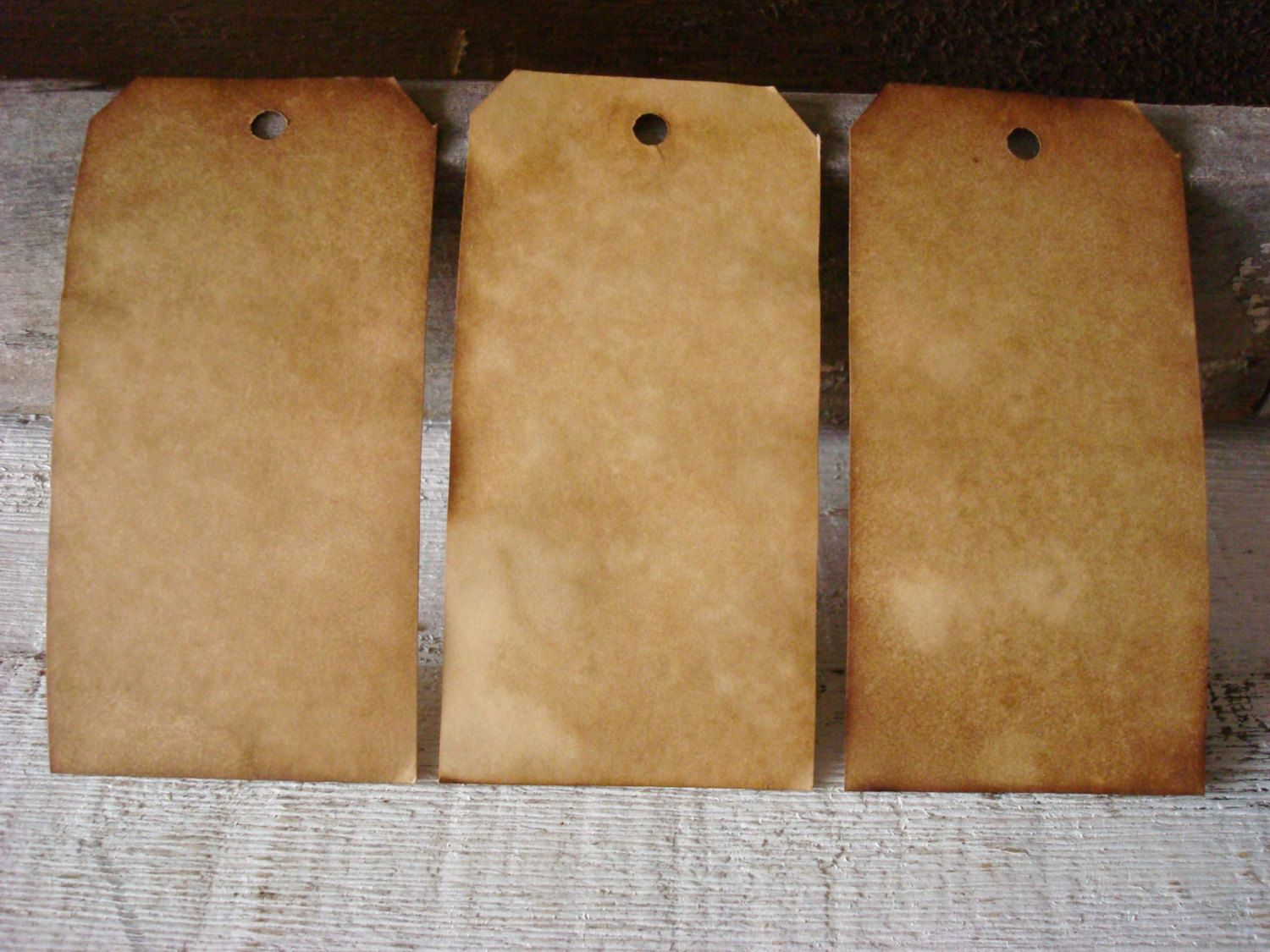 50 Large UNstrung ViNTaGe INSPiReD Hang Tags BLANK by Mayasmomma, $10.00