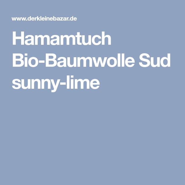Hamamtuch Bio Baumwolle Sud Sunny Lime