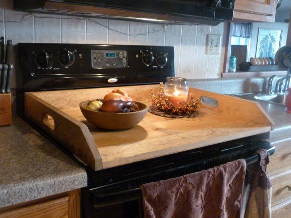 primitive kitchen noodle board dough board wooden tray laundry room decor stove top cover