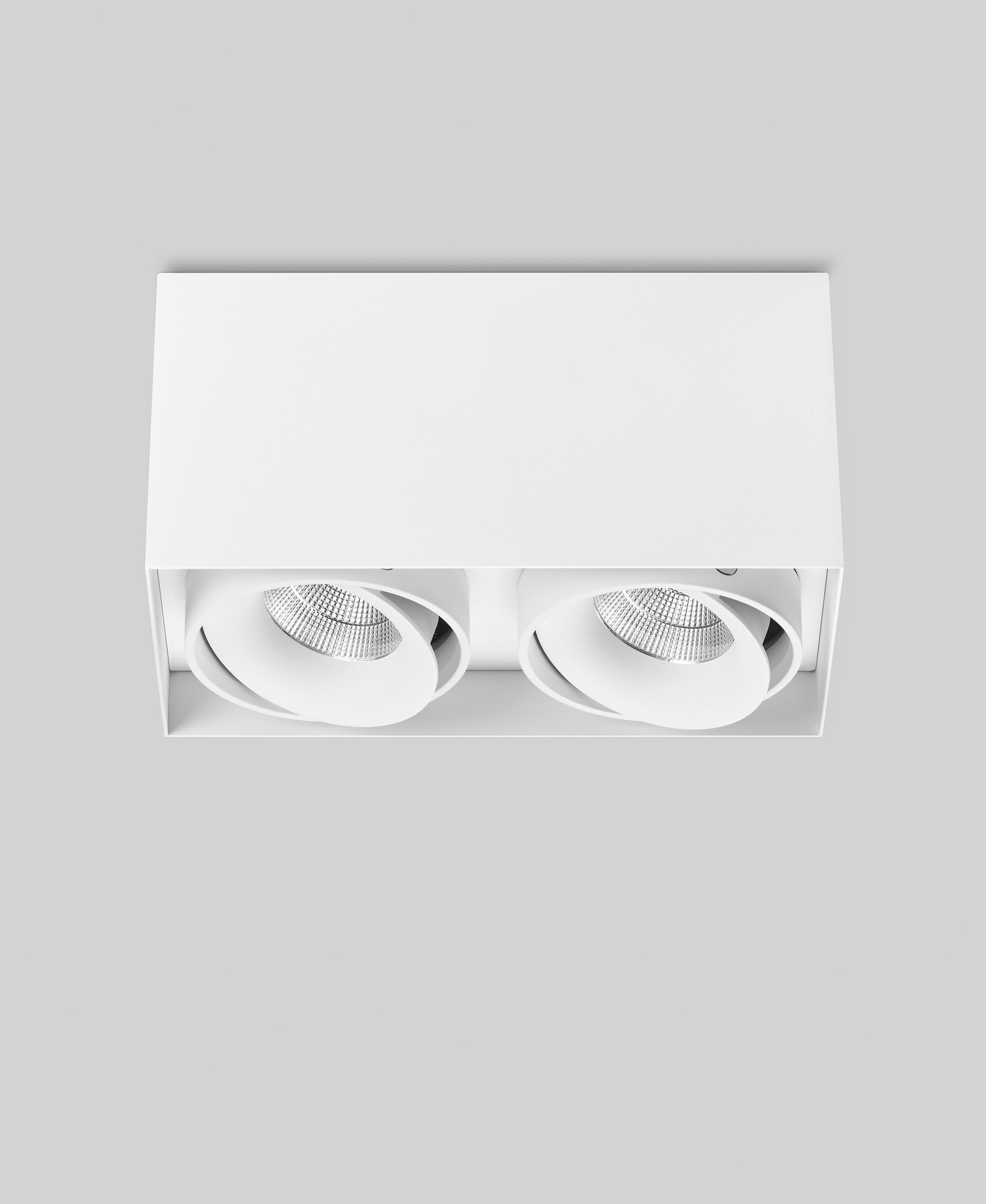 ausrichtbare led deckenstrahler e 2er wei cri 80 leuchten. Black Bedroom Furniture Sets. Home Design Ideas