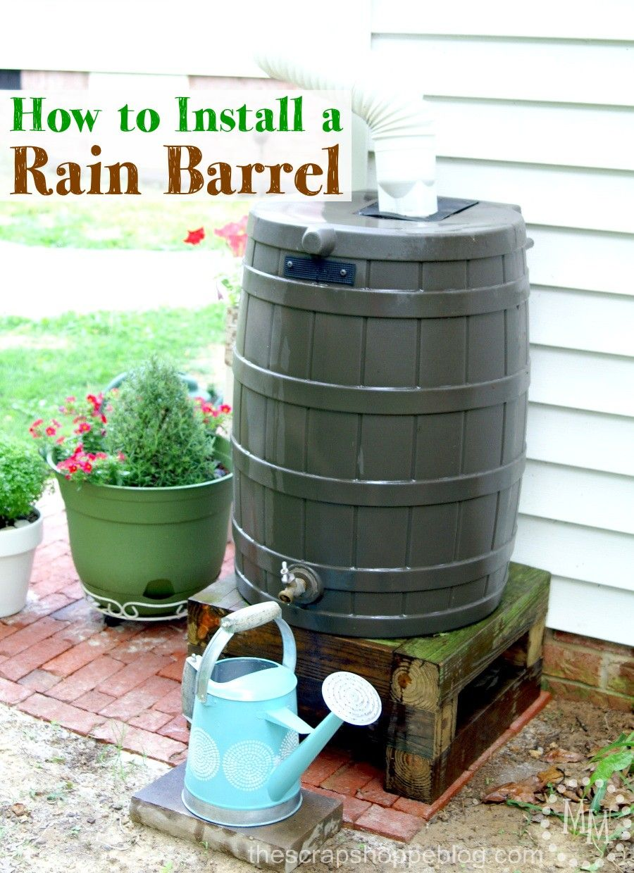 How To Install A Rain Barrel The S Pe