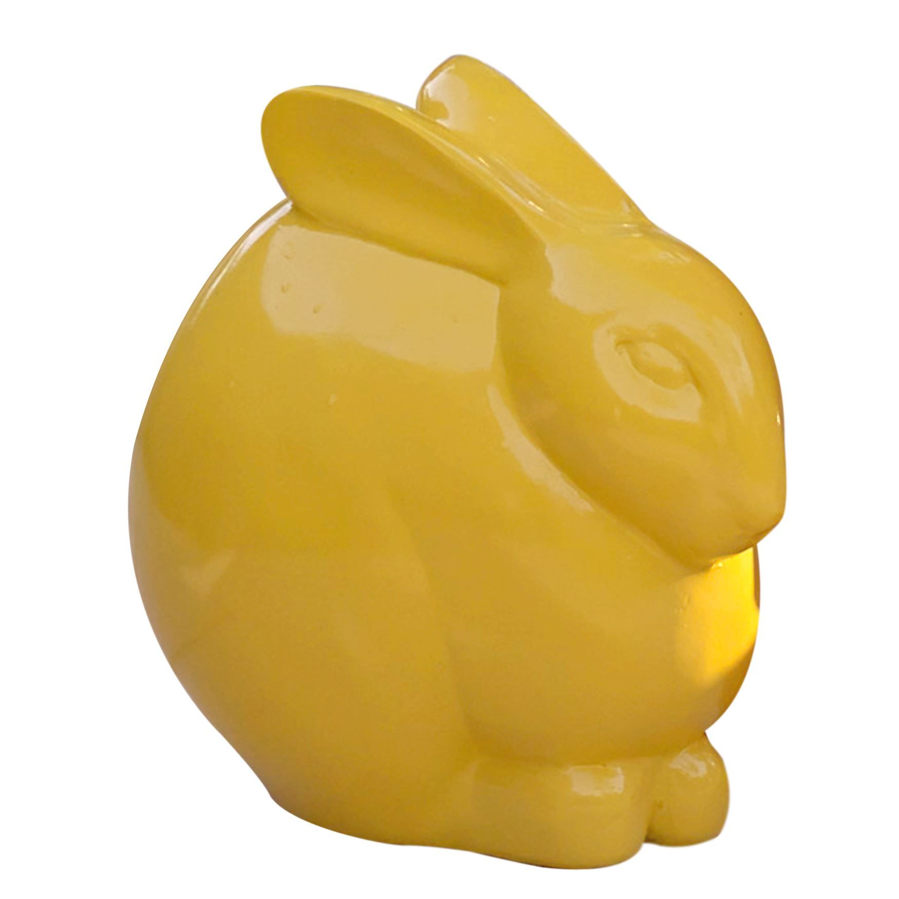 "Bring  your garden to life! Adorable Barley the Garden Bunny comes in bright,  hand-painted yellow to add a sweet touch of color to your garden décor.    dimensions: 9½""H x 8¼""W x 8¼""L water-resistant design in vivid color hand painted; no two are alike ettringite/acrylic/fiber wipe clean imported be sure to shop cushions, pillows & more for great ways to spruce up your outdoor area!    Why Buy? Our adorable garden animal accents add a charming touch to your  o..."