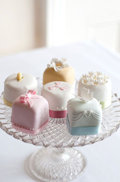 wedding cake petit fours so cute for a bridal shower
