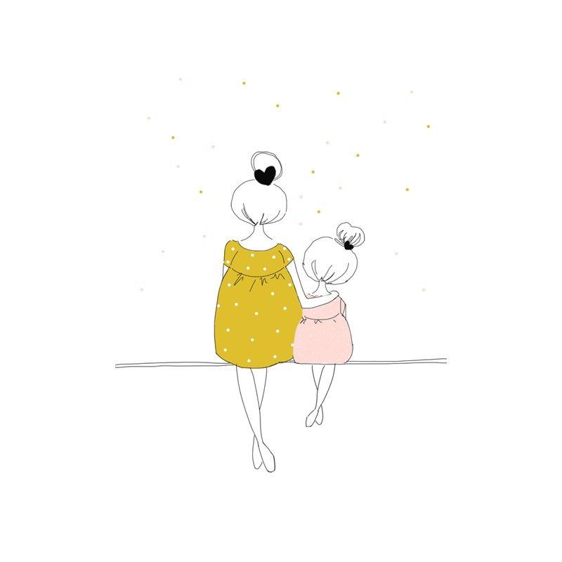 Madre e hija   Illustrations   Pinterest   Mamá, Dibujos y Ilustraciones