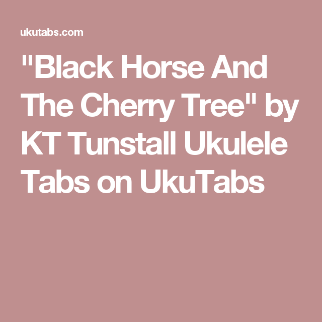 black horse and the cherry tree - 640×640