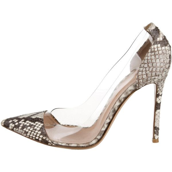 29774af96ff Pre-owned Gianvito Rossi PVC Snakeskin Pumps ( 395) ❤ liked on Polyvore  featuring shoes
