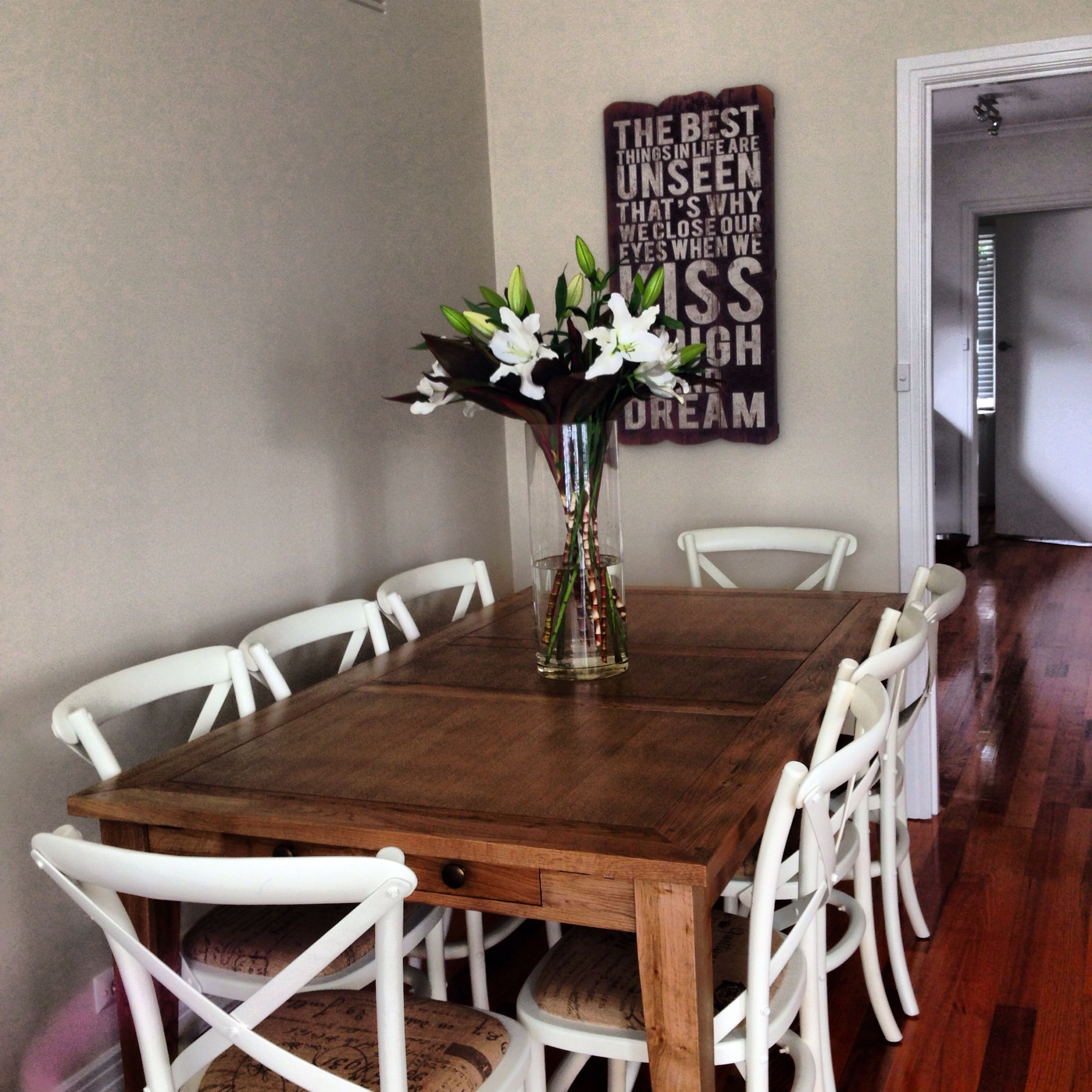 hamptons style dining room table and chairs | hamptons style, Wohnzimmer dekoo