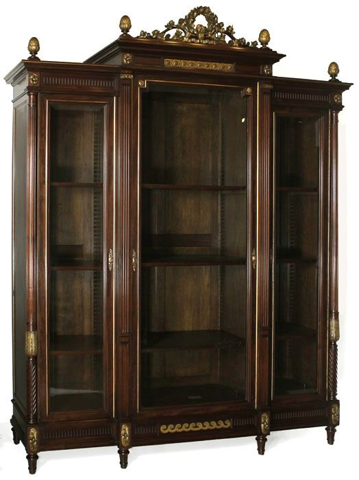 antique louis xvi giltwood display armoire antique. Black Bedroom Furniture Sets. Home Design Ideas