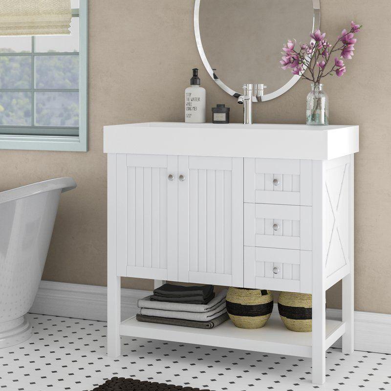 Harward 35 Single Bathroom Vanity Set Reviews Joss Main With Images Single Bathroom Vanity Bathroom Vanity Vanity