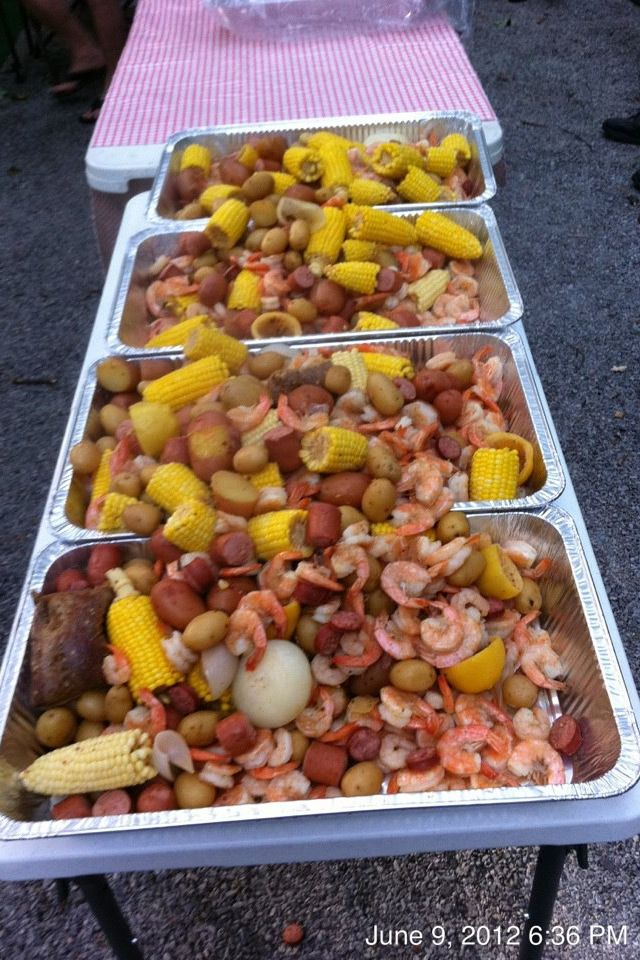Low Country Boil Worked Great For Beach Themed Wedding Rehearsal