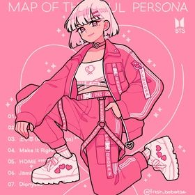 Map of the Soul Persona , an art print by fresh_bobatae
